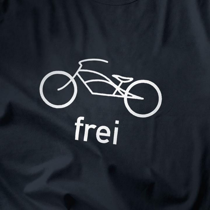 Cruiser / Fahrrad frei / Born to be free T-Shirt